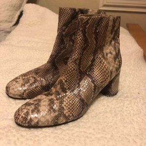Chinese Laundry Snakeskin Booties